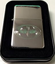 BATMAN Bat Engraved Chrome Cigarette Wedding Favor Lighter / Case Gift LEN-0021
