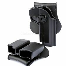 Tactical Combo Retention Holster Double Paddle Magazine Pouch For Beretta 92 96