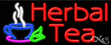 "BRAND NEW ""HERBAL TEAS"" 32x13 LOGO REAL NEON SIGN W/CUSTOM OPTIONS 11221"