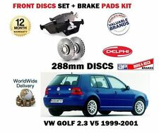 FOR VOLKSWAGEN VW GOLF 1999-5/2001 2.3 V5  FRONT BRAKE 288mm DISCS + Pads Set