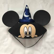 Disney Mickey Mouse Face Ears Sorcerer Hat Cap Name Embroidered On Back Caitlin