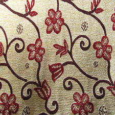 Elizabethan Rose Patterned Tapestry Designer Curtain Fabric-150 cm Wide