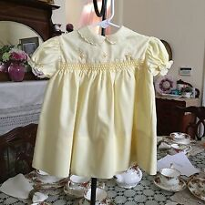 Cherubs by Wonderalls Smocked Vintage Infant girls dress size 18 months