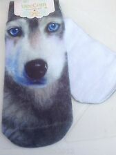 WOLF/ HUSKY Dog New Trainer SOCKS UK Size 3-7, 3D Digital Photo, House of Cards