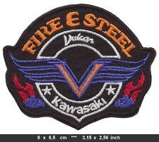 FIRE & STEEL Aufnäher Patches Motorrad Biker V2 Chopper Vulcan BLITZVERSAND