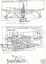 VOUGHT VS2U OS2 KINGFISHER PLAN BLUEPRINTS DRAWINGS WWII NAVY floatplane faa