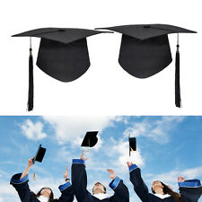 1Pc Graduation Hat Mortar Board Black Graduate Costume Academic Cap School Party