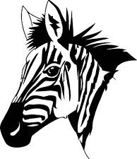 Zebra Head 2  Vinyl Wall decal