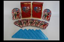 LOTof 3,NEW/BOX- 2 LENOX SILVER PLATE HEART of AMERICA Ornaments+JULY 4TH 8CARDS