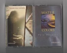 PETE BARDENS - Lot of 2 SEALED cassettes PROG Camel  Water colors & Further than
