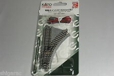 Kato n gauge Unitrack Electric Turnout 150mm 45 degrees Right 20-241