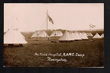 Basingstoke - The Field Hospital, R.A.M.C. Camp -  real photographic postcard
