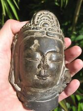 Chinese Bodhisattva carved stone head, 6th century AD, S.& N. Dynasties-Sui Dyn