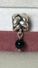 GENUINE PANDORA Silver 925ale Black Onyx Rope Dangle Charm 790388 O