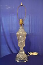 """Beautiful Vintage And Big Cut Glass Table Lamp 26"""" Tall"""