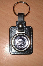 Mini Cooper Leather/Metal Keyring