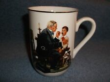 1985 NORMAN ROCKWELL MUSEUM THE COUNTRY DOCTOR PORCELAIN COFFEE CUP - NICE