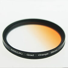 RISE UK 58mm Graduated Gradual Color Orange Filter For Canon Nikon 58 mm Sunset
