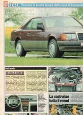 SP55 Clipping-Ritaglio 1987 Test Mercedes 300 CE La nuova coupè
