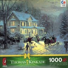 Thomas Kinkade Home for the Holidays 1000 Piece Ceaco Jigsaw Puzzle Jig Saw