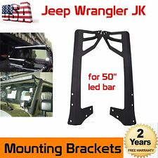 50 Inch OffRoad LED Light Bar Double Mounting Bracket For Jeep JK Wrangler 07-17