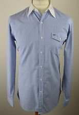 Classic Men'S POLO RALPH LAUREN Multi Blu e Bianca a Righe Camicia Taglia Media 44""