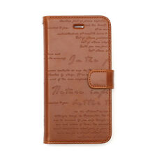 """Zenus Lettering Diary Synthetic Leather Diary Case for iPhone 7 4.7"""" Brown"""