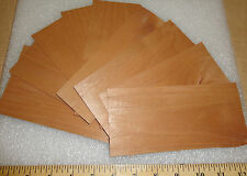 """Alder wood veneer 3"""" x 7"""" and larger with no backing sample pack with 8 pieces"""