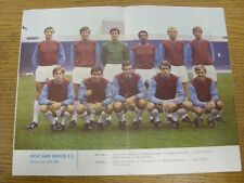 1968/1969 Football League Review: Vol 3 No 32 - Colour Picture - West Ham United