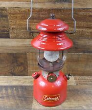 VINTAGE COLEMAN 200A RED SINGLE MANTLE  LANTERN DATED 2/60 SUNSHINE OF THE NIGHT