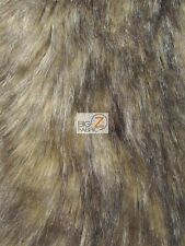 FAUX FAKE FUR ANIMAL SHORT PILE COAT COSTUME FABRIC - German Shepard - BY YARD