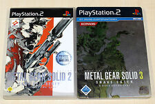 PLAYSTATION 2 giochi collezione METAL GEAR SOLID 2 3 SNAKE EATER STEELBOOK Shooter