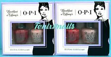 OPI BREAKFAST AT TIFFANY'S (2) Party Petites Mini Nail Polish Duo Gift Sets NEW!