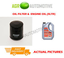 DIESEL OIL FILTER + FS 5W40 ENGINE OIL FOR RENAULT CLIO 1.5 75 BHP 2010-14