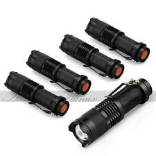 7W 1200lm CREE Q5 LED SA3 Zoomable Mini Flashlight Torch Lamp AA/14500  5 Pcs