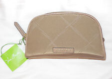 NWT Vera Bradley PREPPY POLY SMALL COSMETIC in TOAST Travel Cosmetic Case