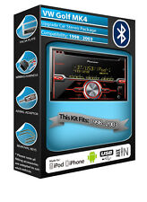 VW Golf MK4 CD player, Pioneer car stereo AUX USB in, Bluetooth Handsfree kit