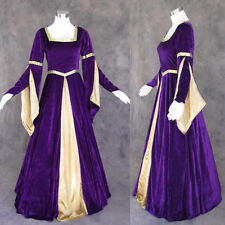 Purple Velvet Medieval Renaissance Gown Dress Costume LOTR Wedding 2X
