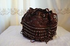 ZARA BURGUNDY SUEDE LEATHER FRINGE AND STUDDED BAG REF.4009/004 NWT!