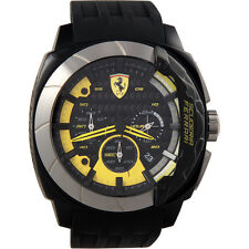 Ferrari 47mm Black Chronograph Dial Plastic Band & Case Men's Watch 0830206