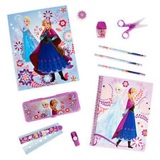 Disney Store Frozen Anna and Elsa Stationery School Supply kit / Pencil Box