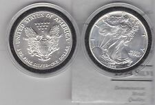 USA EAGLE 1994 ONE OUNCE SILVER DOLLAR IN MINT CONDITION + CERTIFICATE & CAPSULE