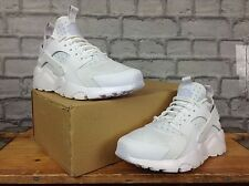 NIKE MENS UK 7.5 EU 42 WHITE AND PLATINUM AIR HUARACHE TRAINERS RRP £110