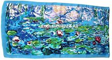 "Art Silk Oblong Scarf Wrap w/ Monet ""Water Lilies"" 1906"