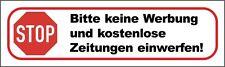 3x Bitte keine Werbung und kostenlos Zeitungen! Grossversion XXL-Aufkleber