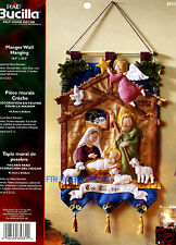 Bucilla Nativity Manger ~ Felt Christmas Wall Hanging Kit #85331 Baby Jesus 2014