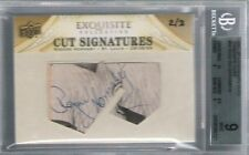 2011 ROGERS HORNSBY EXQUISITE Collection Cut Signature #2/3 BGS 9 8 Auto HOF