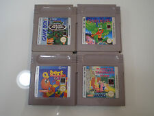 Nintendo Gameboy classic lotto giochi Gargoyle Pugsley Turtles Q-Bert