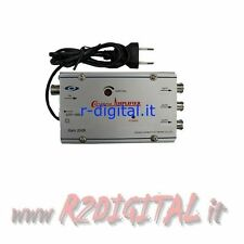 AMPLIFICATORE ANTENNA GAIN REGOLABILE TV DVB-T DIGITALE TERRESTRE CANALI HD