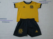 Infant Everton football kit shirt+shorts size 12-18 months Le Coq Sportif